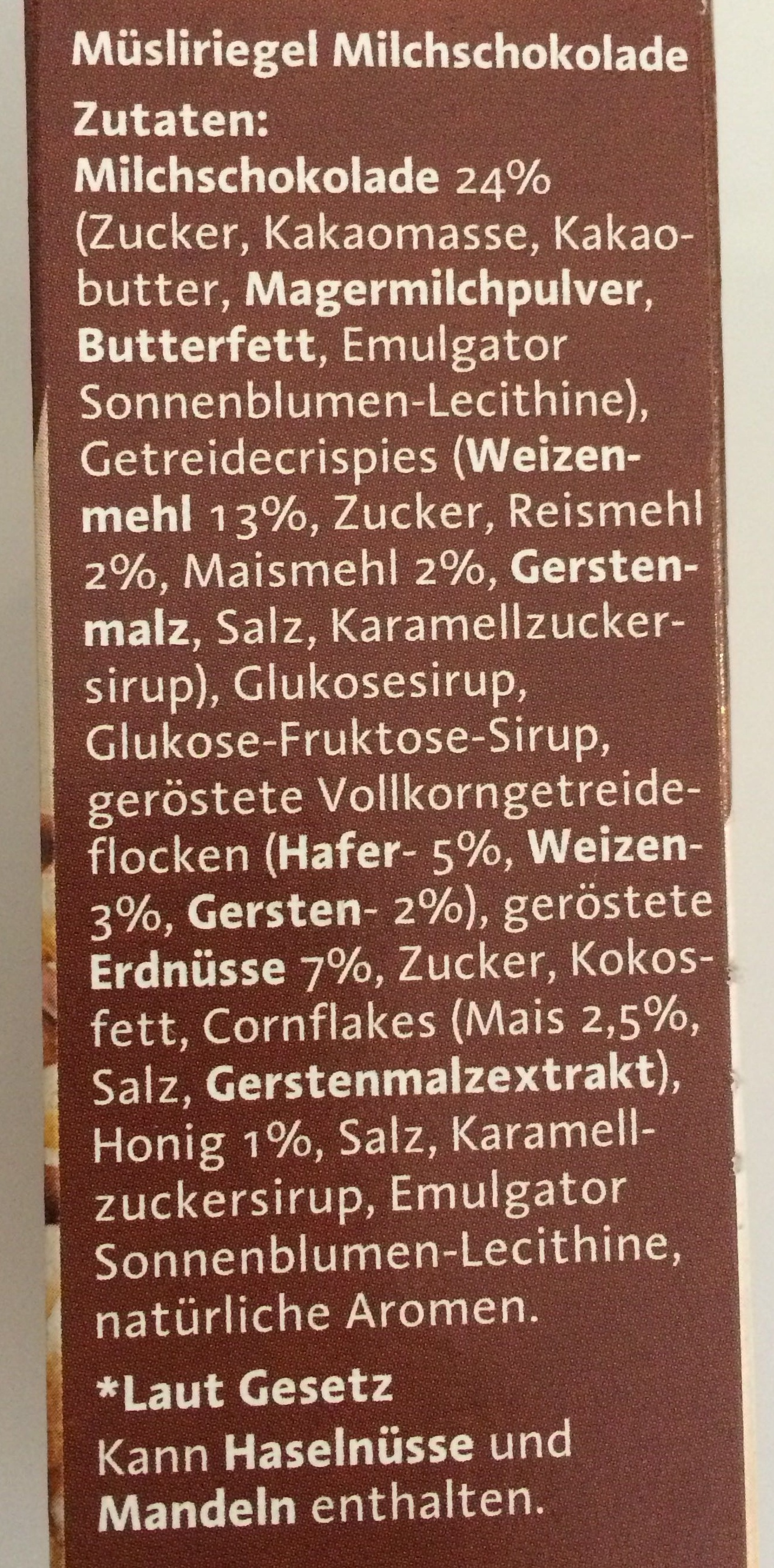 Corny Shoko - Ingrediënten - de