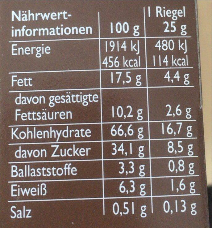Corny - Valori nutrizionali - de
