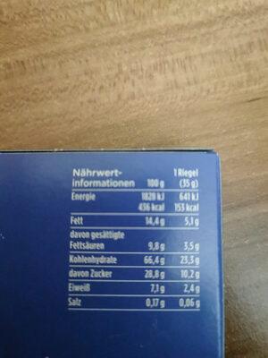 Corny Haferkraft - Nutrition facts