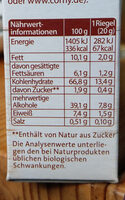 Corny Free Schoko 6 Riegel - Nutrition facts