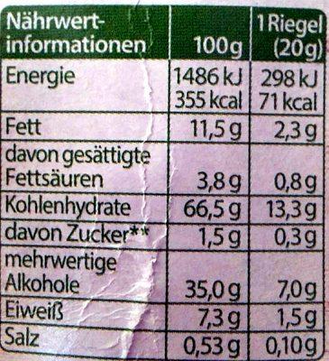 Corny free Haselnuss - Voedingswaarden - de