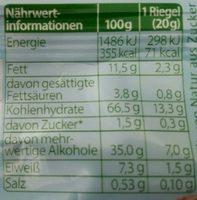 Haselnuss - Nutrition facts - de