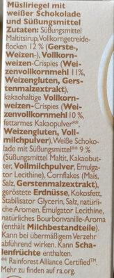 Weiße Schoko - Zutaten - de