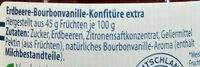 Extra Erdbeere-Bourbonvanille-Konfitüre - Ingredients - de