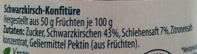 Confiture Extra Schwarzkirsche - Ingredienser - de