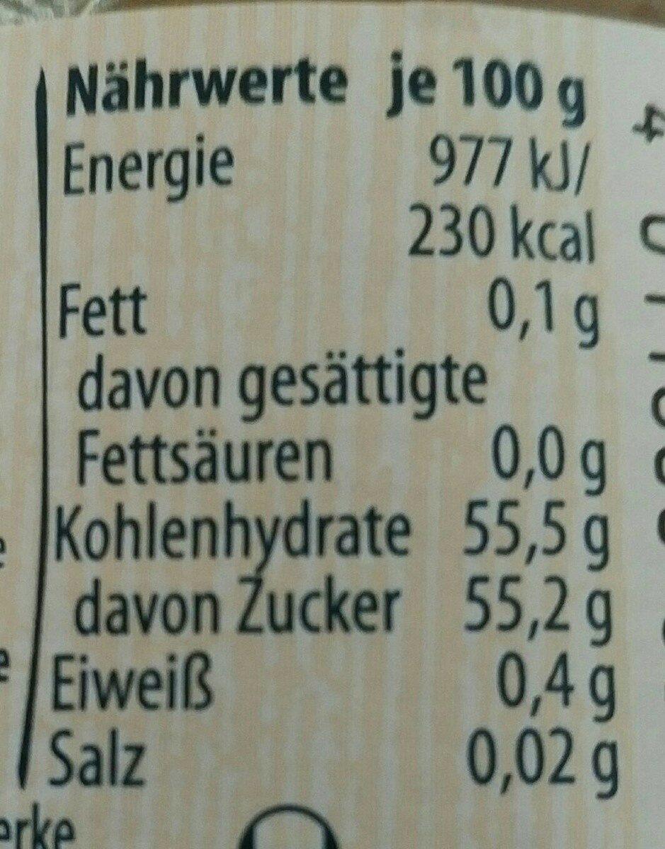 Extra, Stachelbeere - Nährwertangaben - de