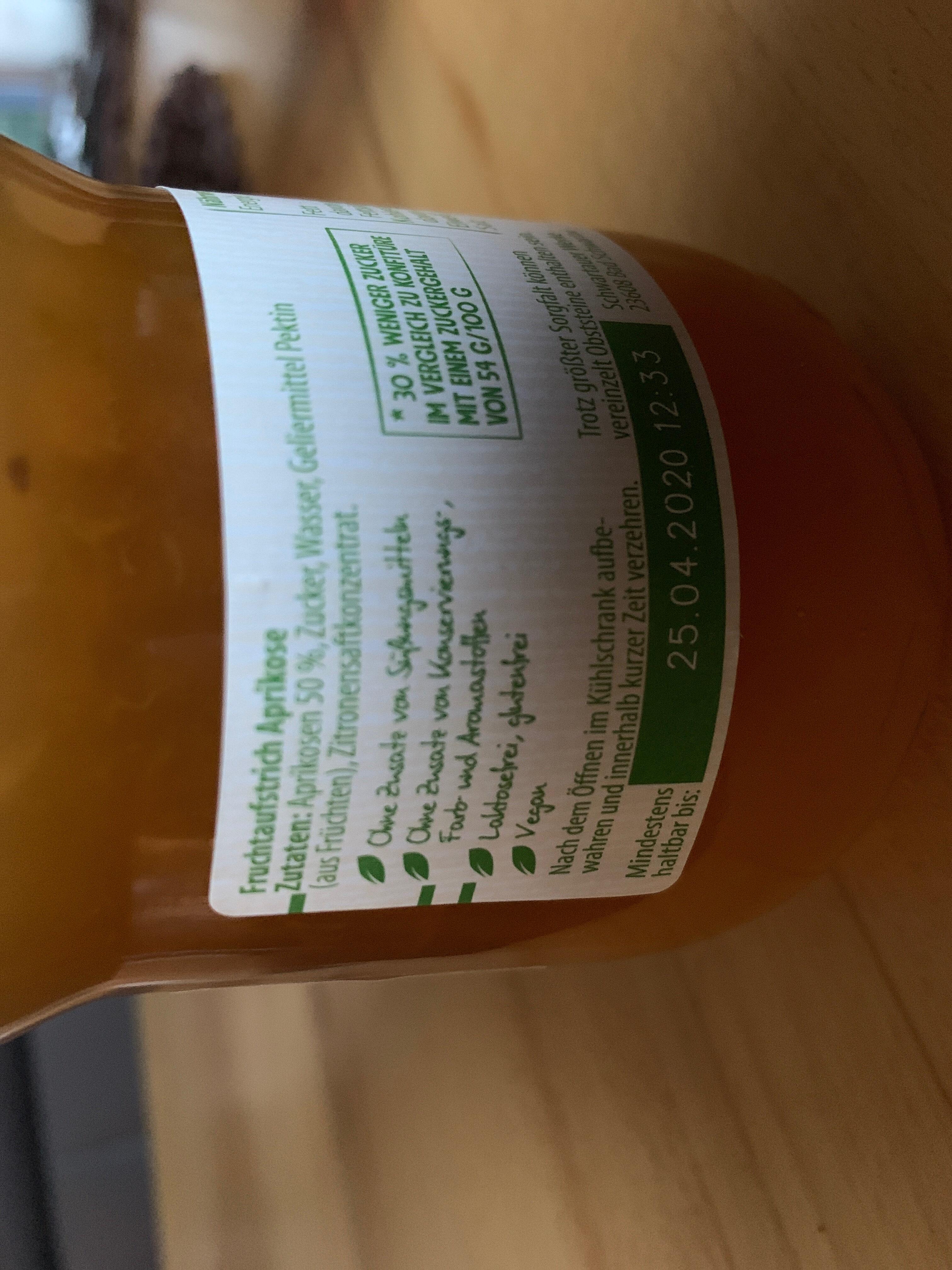 Schwartau Weniger Zucker Aprikose - Ingredients - de