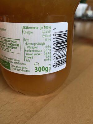 Schwartau Weniger Zucker Aprikose - Nutrition facts - de