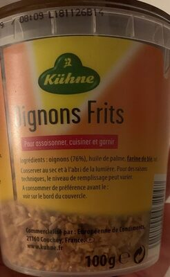 Oignons frits snack - Ingredients - fr