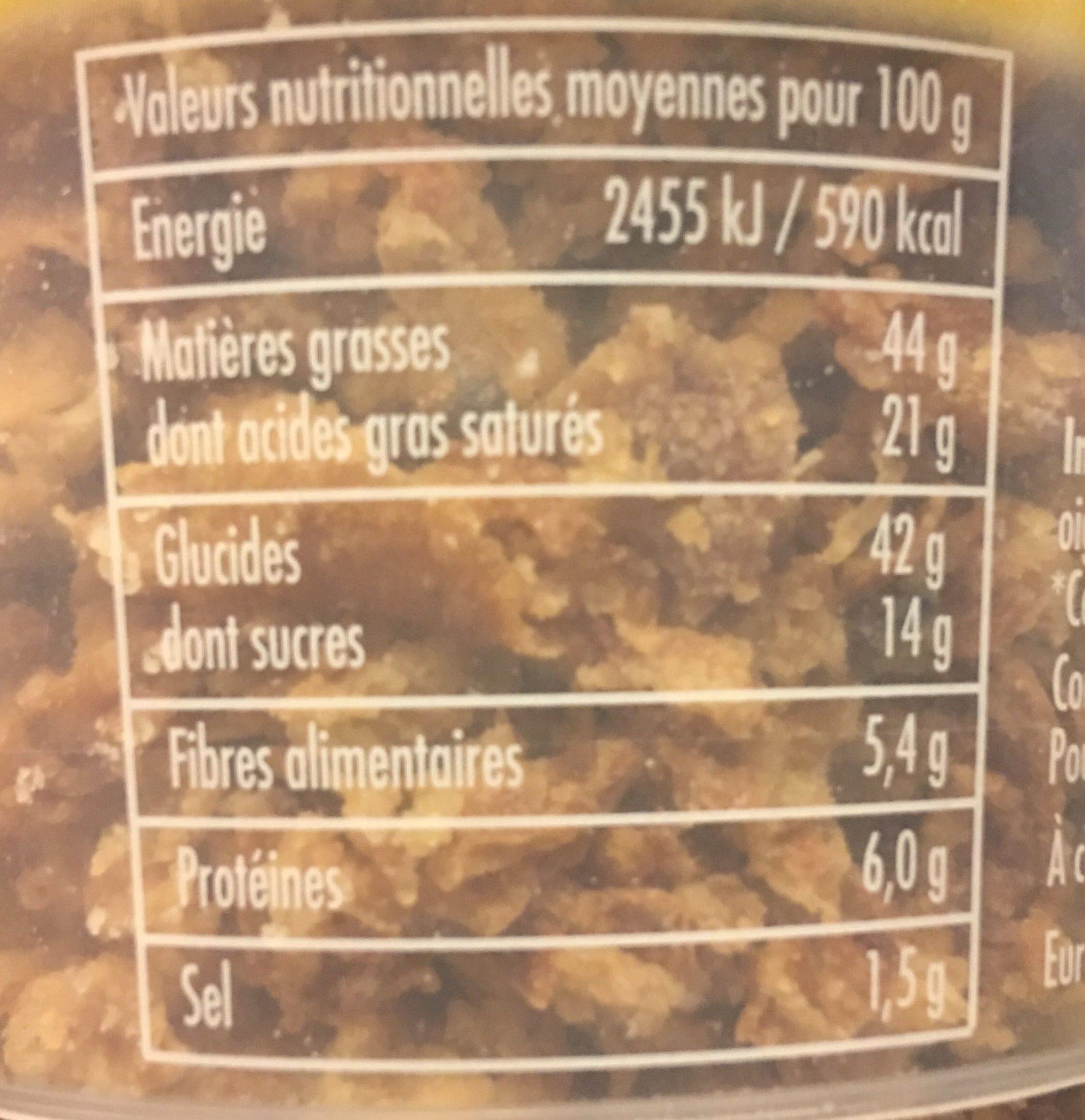 Oignons frits - Informazioni nutrizionali - fr