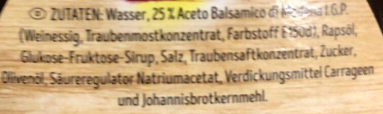 Salatdressing, Basalmico - Ingredienti - de