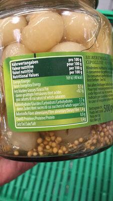 Kiihne Gourmet Selection Oignons épicés - Nutrition facts