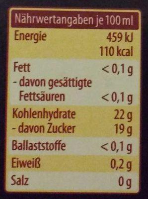 Condimento Balsamico Bianco - Nutrition facts