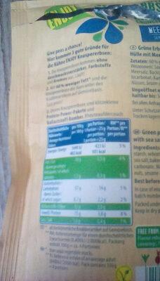 Knusper Erbsen - Valori nutrizionali - de