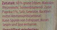 Knusper Erbsen - Paprika - Ingredienti - de