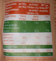 Crunchy Peas - Nutrition facts