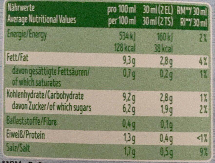 Salatfix, Joghurt Kräuter Dressing Leicht - Nährwertangaben - de