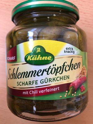 Schlemmertöpchen Scharfe Gürkchen mit Chili verfeinert - 1