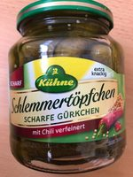 Schlemmertöpchen Scharfe Gürkchen mit Chili verfeinert - Produit