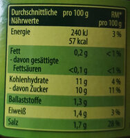Schlemmertöpchen Scharfe Gürkchen mit Chili verfeinert - Informations nutritionnelles - de