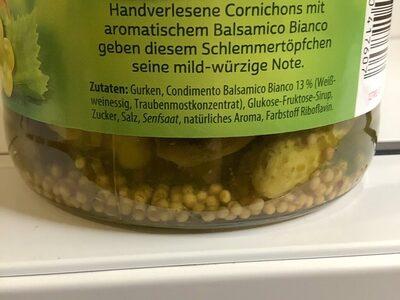 Gürkchen - Ingrédients - de