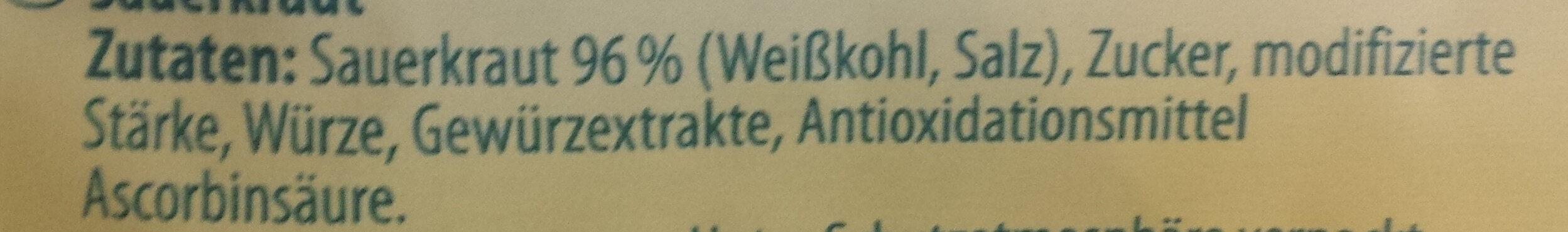 Klassisches Sauerkraut - Ingrédients