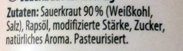 Original Fasskraut - Ingrediënten