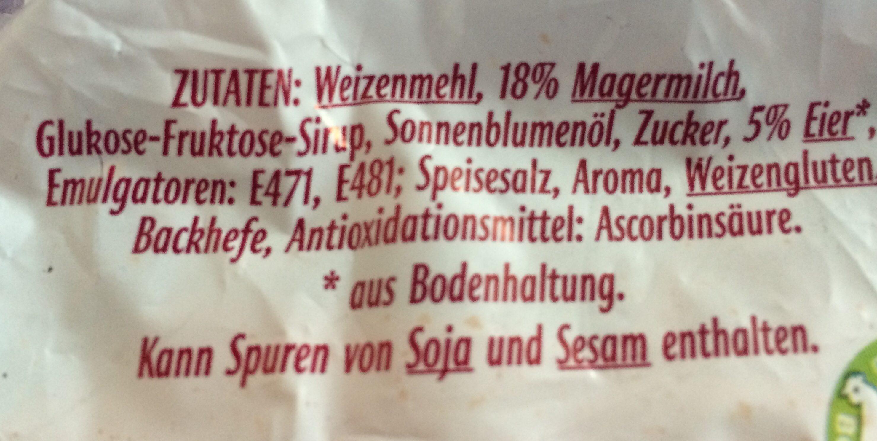 Ibis 12 Milchbrötchen Aus Entrahmter Milch - Ingrédients - de