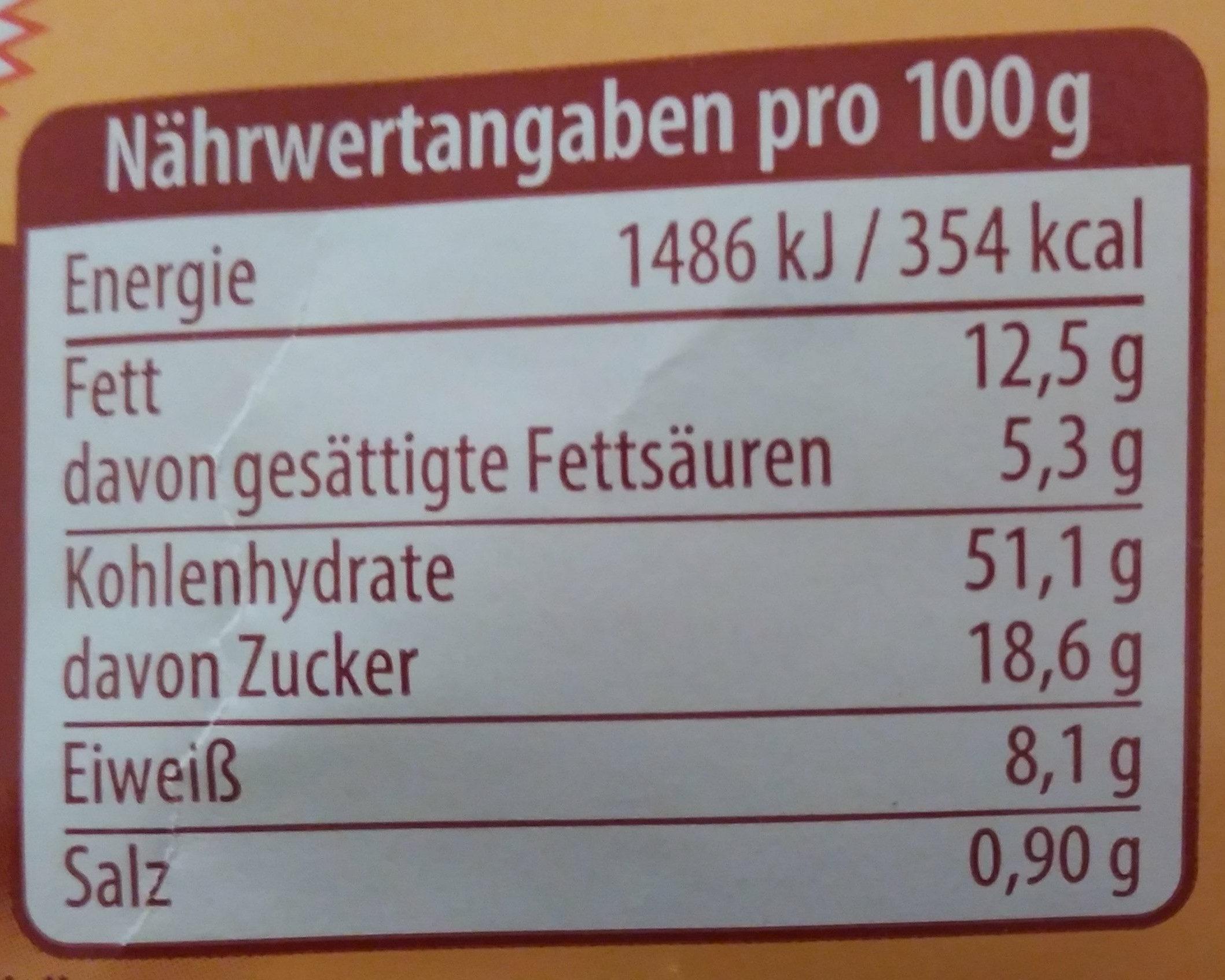10 Milchbrötchen, aus entrahmter Milch, mit Schokoladenstücken - Voedingswaarden - de