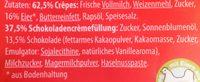 Crêpes Schokocrème - Inhaltsstoffe