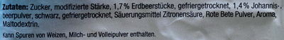 Frucht-Kaltschale Erdbeer-Johannisbeer - Ingrédients - de