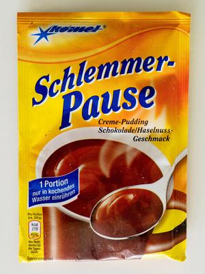 Schlemmer-Pause Creme-Pudding Schokolade/Haselnuss-Geschmack - Produit