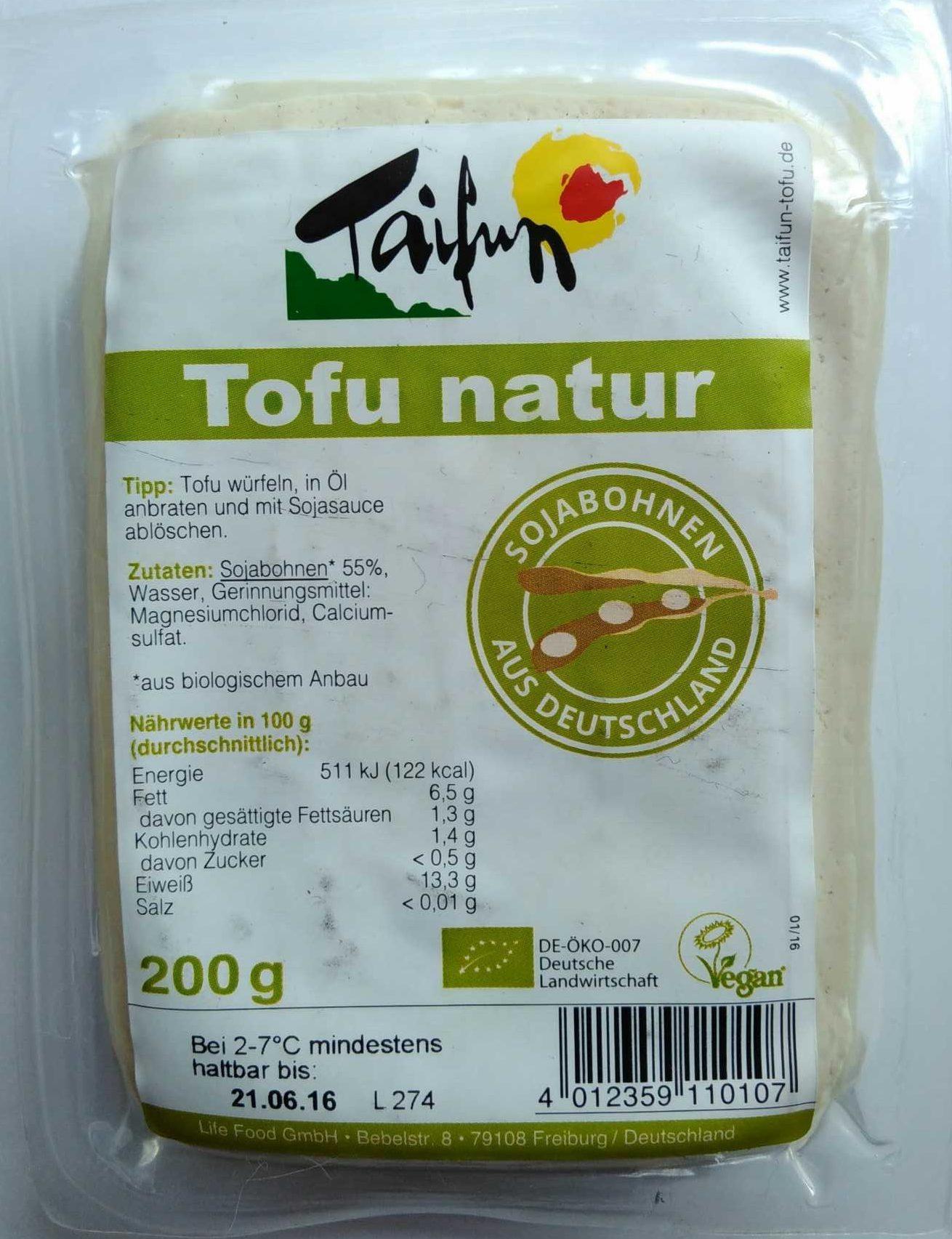 Einzigartig Tofu Nährwerte Dekoration Von Natur - Product