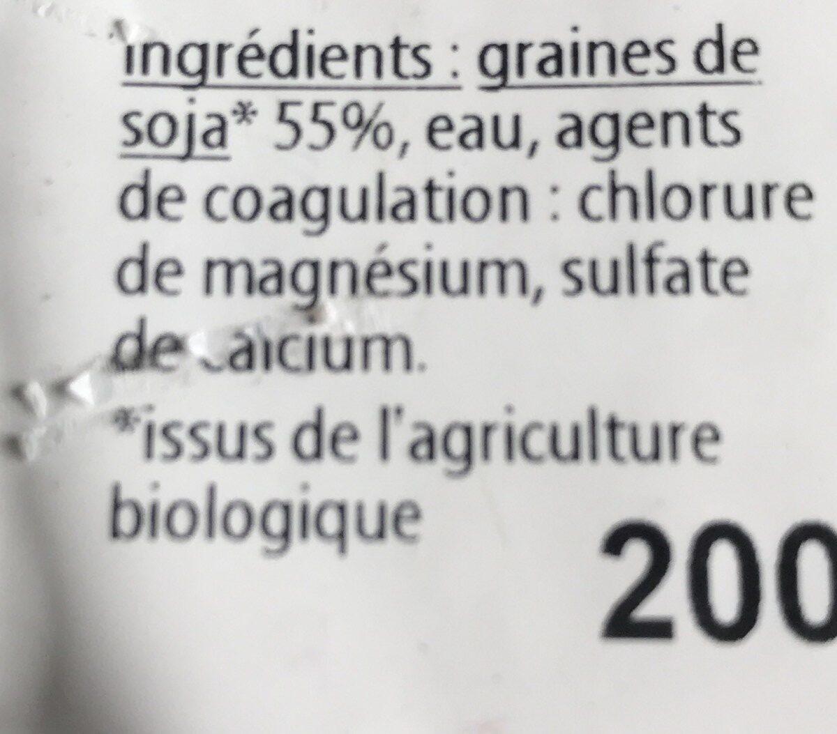 Tofu - Ingredients - fr