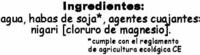 "Tofu ecológico ""Taifun"" Nigari - Ingredientes"