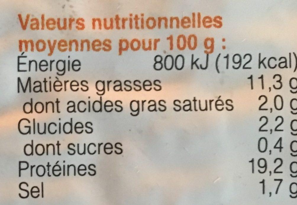 Almendra-Sésamo - Información nutricional