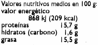 "Tofu ecológico ""Taifun"" Olive - Informations nutritionnelles - es"