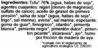 Tofu-Vienesas - Ingredients - es