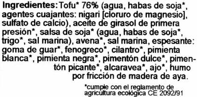 Tofu-Vienesas - Ingredientes