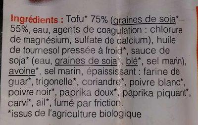 Tofu-Viennoises - Ingrédients - fr