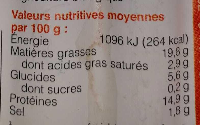 Tofu-Vienesas - Nutrition facts - es