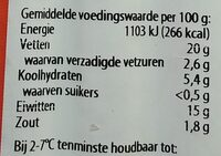 Tofu Wiener - Voedingswaarden - nl