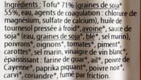 """Tofu """"Viennoises"""" à la Hongroise - Ingrédients - fr"""