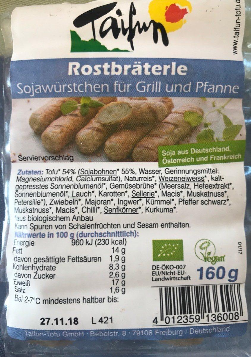 Rostbräterle - Produit - fr