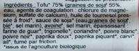 Mini-Viennoises Tofu - Ingrediënten - fr