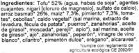 Hamburguesas vegetales Friburguesas de tofu y arroz Maíz-Pimiento - Ingredientes