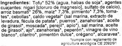 Hamburguesas vegetales Friburguesas de tofu y arroz Maíz-Pimiento - Ingrediënten - es