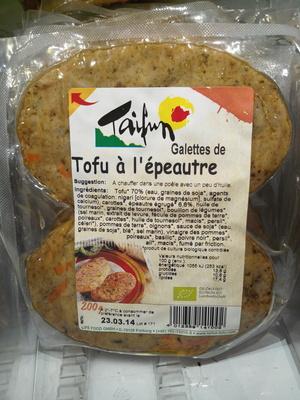 Galettes de tofu à l'épeautre - Product