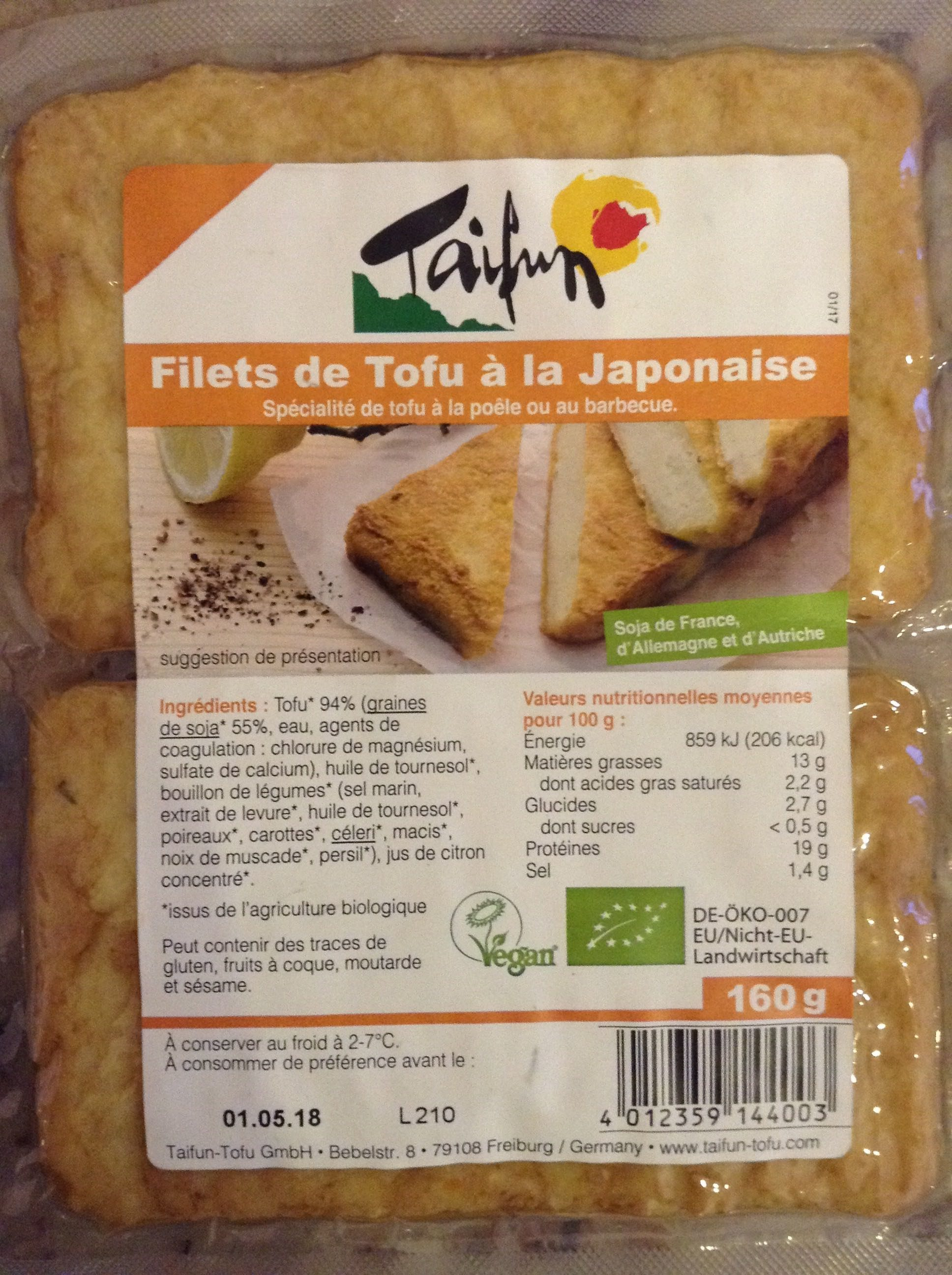 Filets de tofu à la japonaise - Product - fr