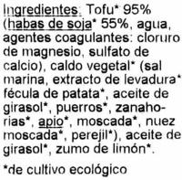 Filets de tofu à la japonaise - Ingredientes